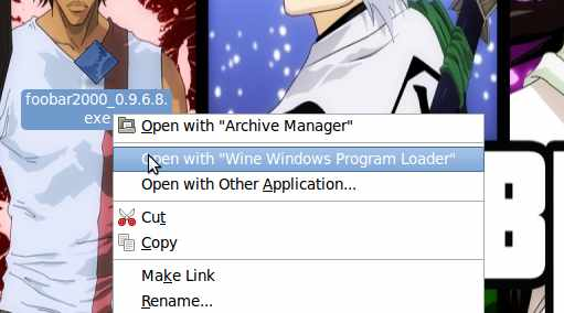 "Open with ""Wine Windows Program Loader"""