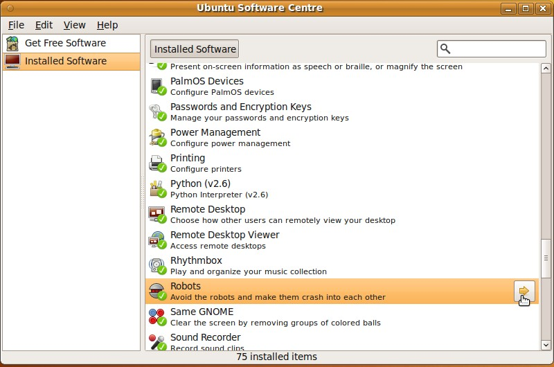 Click on Installed Software, and pick on the software on the list you want to remove