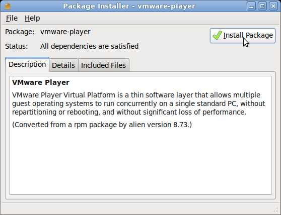 Click Install Packages Button on Package installer window.
